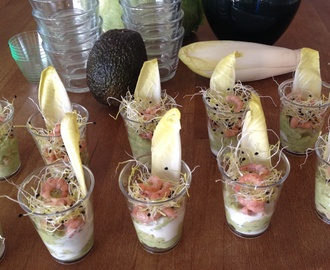 Amuse avocado/garnaal *