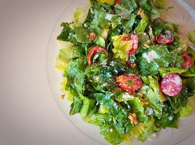 Romaine-Tomato Salad with Bacon