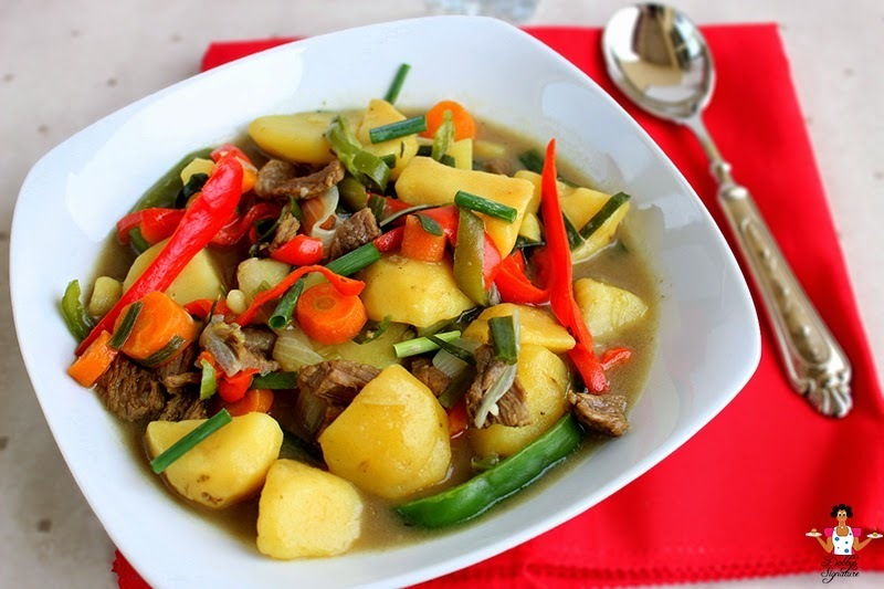 Beef and potato soup recipe