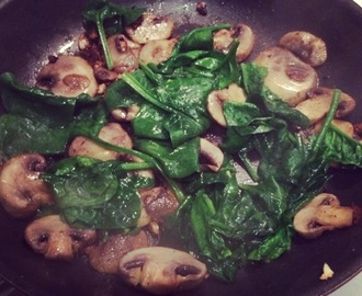 Easy Sautéed Spinach and Mushrooms Side Dish