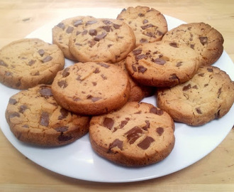 Peanut butter milk choc chip shortbread cookies