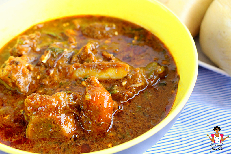 Draw Soup recipe (Ogbono & Okra Combo)