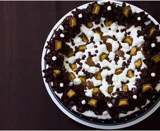 Peanut Butter & Chocolate Chip Overload Ganache Cookie Cake