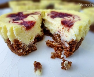 Swirl mini cheesecakes