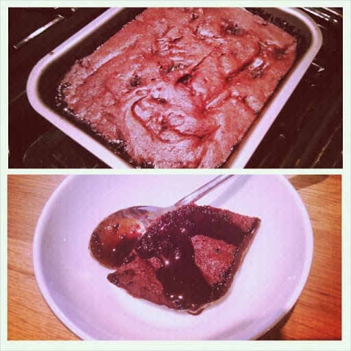 'Self-Saucing' Gluten & Lactose Free Chocolate Brownies (FODMAP-friendly)
