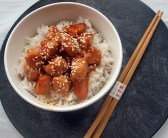 Honey and sesame chicken / Kurczak w miodzie z sezamem