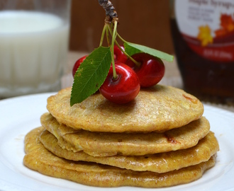 Whole Wheat Cottage Cheese Pancakes