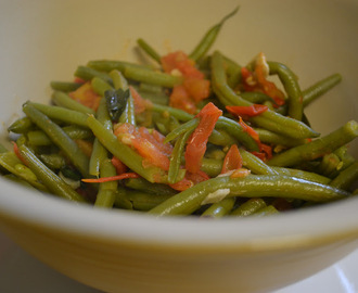 French beans and tomatoes – spercieboontjes met tomaat (GF-DF-SF-V)