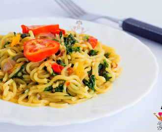 Pumpkin leaf (ugu) noodles recipe