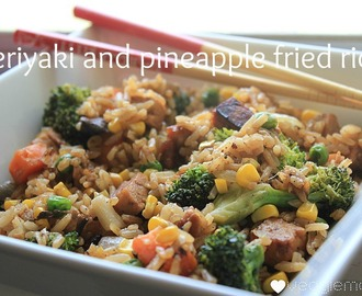 Meatless Monday - teriyaki and pineapple fried rice