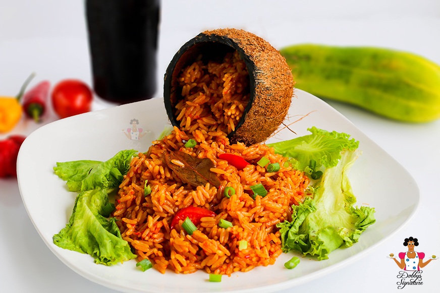 Easy Coconut Jollof Rice Recipe - How to make coconut jollof rice