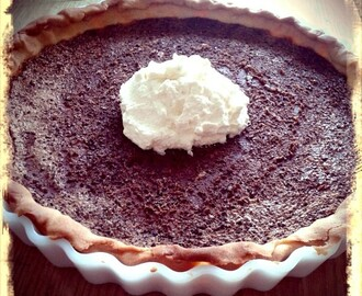Southern style chocolate pie