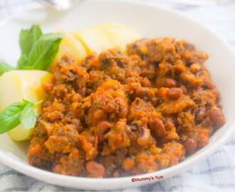 Chunky Mince and Beans