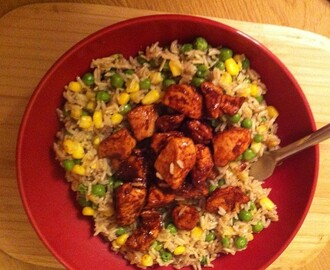 Recipe Corner: Sticky BBQ Chicken & Veggie Rice