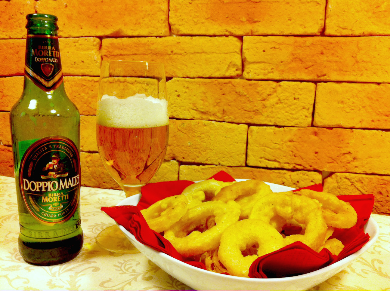 Onion rings alla birra