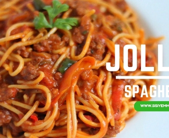 THE JOLLOF SPAGHETTI I COULDN'T WAIT TO SHOW YOU!