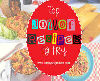 Top jollof recipes to make today