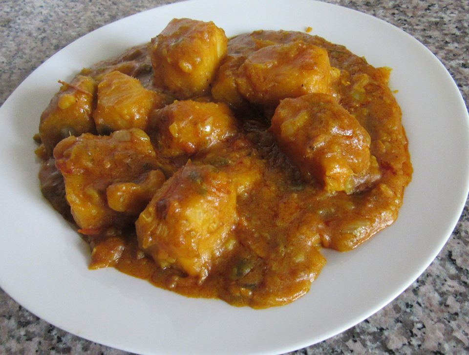 How to cook recession yam porridge (pottage) with tomatoes