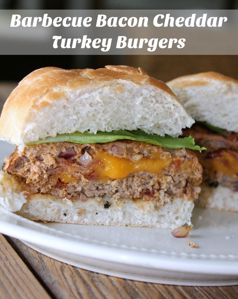 Barbecue Bacon Cheddar Turkey Burgers #JimmyDeanBacon