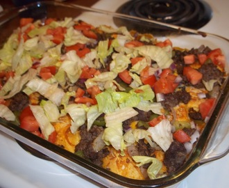 Biscuit Taco Casserole