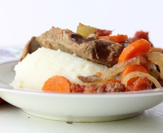 Gluten-Free Slow Cooker Swiss Steak and Veggies (Video)