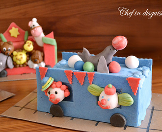 How to make a birthday circus train cake
