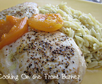Chicken with Apricots and Orzo