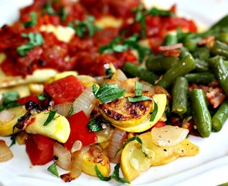 Sauteed Squash and Green Beans with Bacon