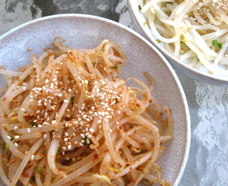 Korean Banchan: Spicy Sesame Bean Sprouts