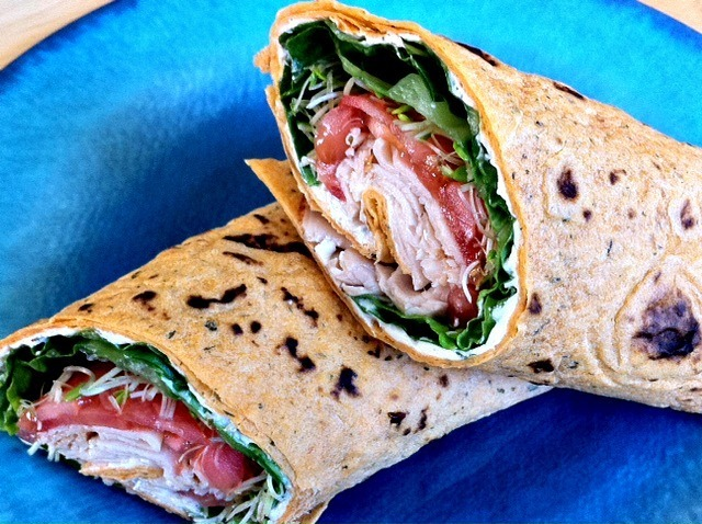 Sandwich Wrap With Garlic & Herb Cream Cheese Spread
