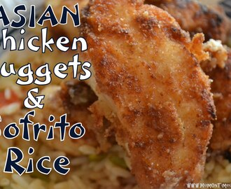Asian Chicken Nuggets & Sofrito Rice {Recipes} with Nakano Seasoned Rice Vinegar