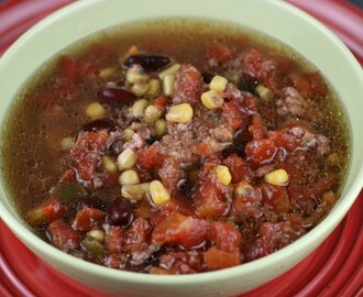 Zesty Burger Soup Slow Cooker Recipe