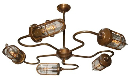 Mullan Lighting Breck bar takkrona - Antique silver, clear glass
