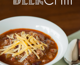 Game Day Beer Chili