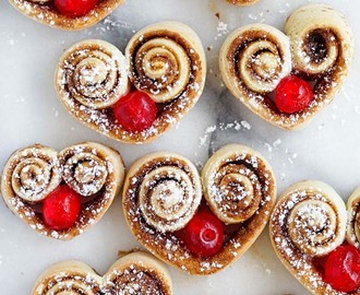 Heart-Shaped Cinnamon Rolls