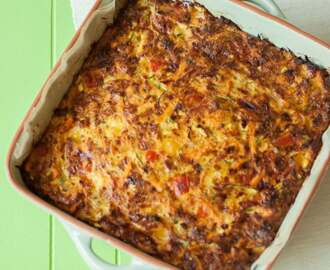 Frittata met courgette & bacon