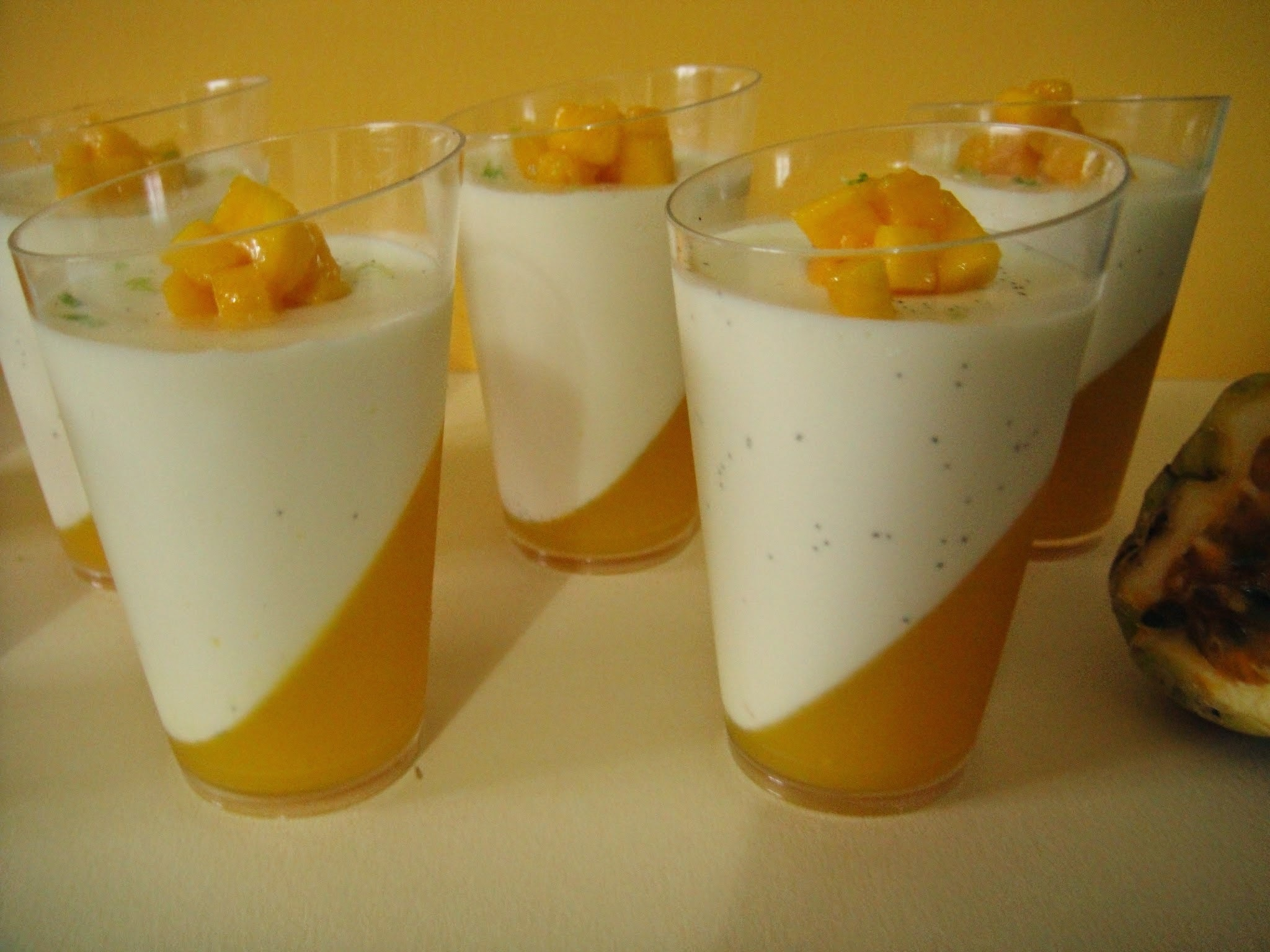 Panna cotta vanille, mangue & fruits de la passion