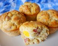 Muffin salado de bacon y huevo