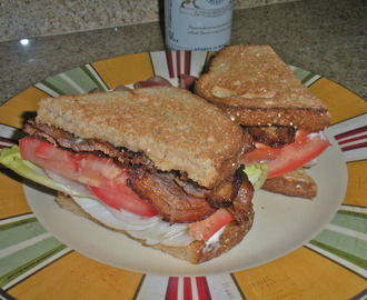 Mango Chat Masala Cured Bacon and Belgian Endive BLT Sandwich