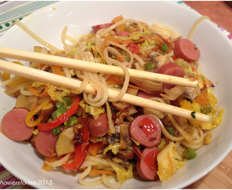 Hot dog noodle stir fry and other stuff..