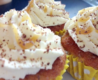 Banoffee Cupcakes with Flora Buttery