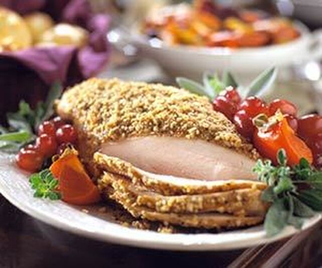 Nut-Crusted Turkey Breast