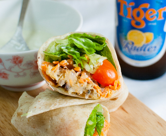 Baked Falafel (Chickpea Patties) with Tzatziki Sauce + Tiger Radler Review