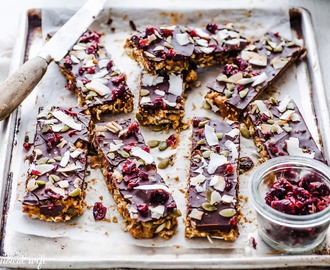 Salted Caramel Fruit & Seed Popcorn Bars - Vegan, Nut, Egg, Refined Sugar, Gluten & Dairy Free