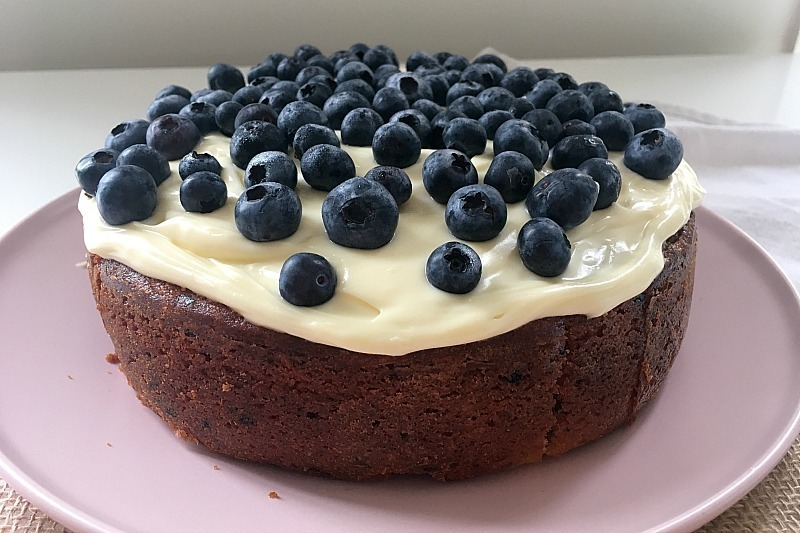 Simple Thermomix Lemon & Blueberry Cake with Cream Cheese Frosting