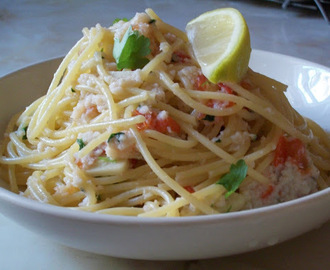 Crab, Chilli and Garlic Linguine