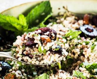 Summer Quinoa Salad with Cherries, Almonds, and Fresh Herbs