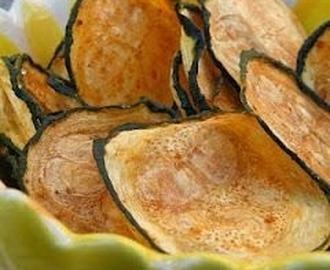 Courgette chips.