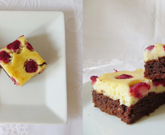 Himbeer Cheesecake Brownies