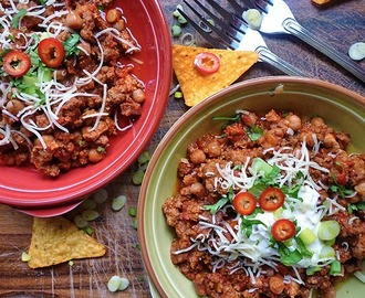 * Slow Cooker Turkey and Chorizo Chilli